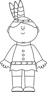 thanksgiving pilgrims and indians coloring page preschool