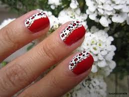 diva red leopard nail art tutorial youtube