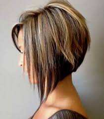 front and back of inverted bob hair go softer in the back and as edgy as you dare in front major