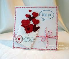 cool valentines cards to make handmade valentine card love ya by weekend warrior open