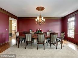 craftsman dining room with chair rail u0026 crown molding in rockville