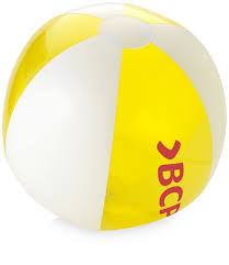 bondi solid transparent beach ball transparent yellow inflatable
