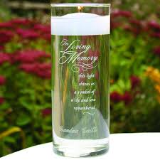 remembrance items personalized wedding memorial candles memorial items