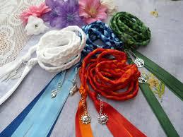 fasting cord set of 4 cords honouring the elements by dancingwithbadgers