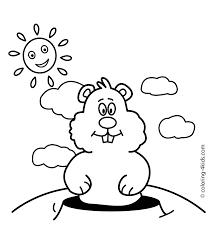 groundhog coloring pages getcoloringpages com
