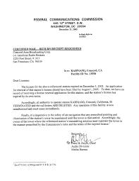 kabn 1480 fcc termination letter 2005