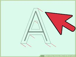 how to draw shadow effect 3d block letters artprise ru the