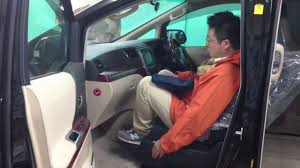 2010 toyota alphard wellcab seat lifting a handicap person