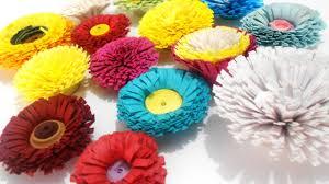 Yellow Pom Pom Flowers - how to make quilling pom poms flower youtube