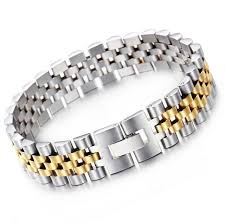 metal bracelet charms images Hiphop stainless steel president strap mens women bracelet jpg