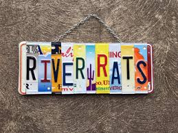 Vacation Home Decor by River Rats License Plate Art Sign Cabin Decor Outdoor Decor