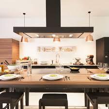 hotte cuisine ilot hotte de cuisine îlot avec éclairage intégré la cornue w la