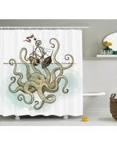 holiday shopping special pirate ship cartoon octopus kraken flag