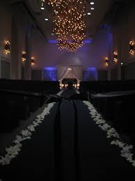 black aisle runner wedding flowers by scarlet petal florist chicago il beyond the