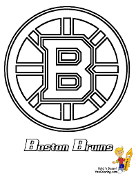 boston bruins hockey coloring page we have all the nhl teams