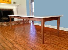 white mid century dining table dining and kitchen tables farmhouse industrial modern walnut base