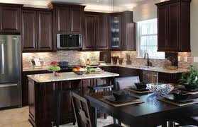Kitchen Cabinet Table Furniture Dark Kitchen With Dark Brown Kitchen Cabinet Also