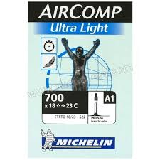 chambre a air 700 23c michelin chambre à air aircomp ultra light a1 700x18 23 40 mm