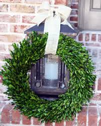 garden variety boxwood wreath with burlap hanger 22
