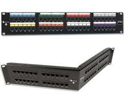 network patch panels category 5e 6 6a and 7 modular patching