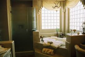 Towel Decoration For Bathroom by Glorious Small Bathroom Designs With White Oval Corner Bath Tub