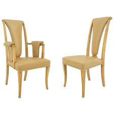 High Back Dining Room Chair Covers High Dining Chairs Set Of Eight Maple High Back Dining Chairs