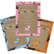baby shower koozies fawn camo baby shower invitations
