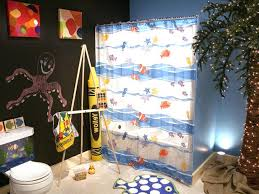 Kids Bathroom Idea by Unique Kids Bathroom Idea With Wonderful Sea Theme Shower Curtain