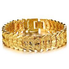 luxury bracelet gold chains images 2018 top luxury gold color bracelet bangle wide surface gold jpg