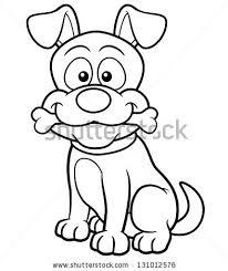vector illustration cartoon dog coloring book stock vector
