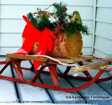 Outdoor Sleigh Decoration Outside Christmas Decorations And Ideas To Make Your Holidays Bright