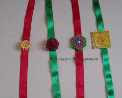 diy wall decoration with flowers home decorating ideas children easy crafts explore your creativity handmade rakhis the first one is simplest you need satin ribbon