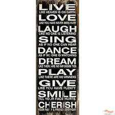wall design ideas live word plaques wall laugh sing