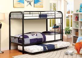 Bunk Bed Trundle Bed Leonardo Furniture Rockville Center Ny Rainbow Black Metal