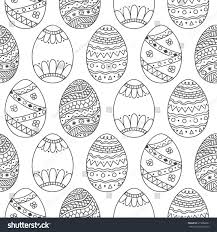 seamless simple pattern easter eggs easter stock illustration