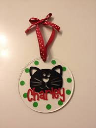 personalized cat ornament 4 clear acrylic with