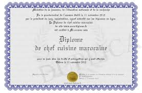 chef cuisine maroc diplome de chef cuisine marocaine