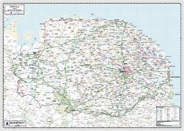 Suffolk County Map Print By Norfolk County Wall Map Framed Laminated Or Mounted On Pin