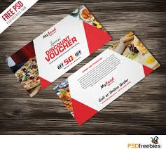 discount voucher free psd template download download psd