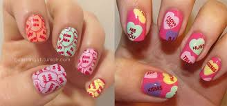 12 valentine u0027s candy heart nail art designs ideas trends