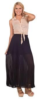 flowy maxi skirts elastic high waist pleated flowy sheer transparent chiffon