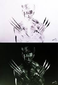 artist u0027s inverted sketches reveal wolverine drawings geekologie