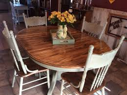 Dark Dining Room Table by Best 25 Painted Oak Table Ideas Only On Pinterest Round Oak