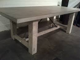 Farm Table Pictures by Concrete And Reclaimed Wood Rustic Farm Table Mecox Gardens