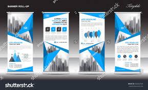 Blue Flag White X Blue White Roll Banner Template Design Stock Vector 630492728