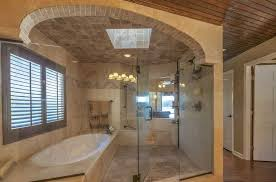 Ceiling Ideas For Bathroom Rustic Master Bathroom With Hardwood Floors High Ceiling In