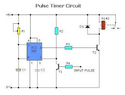 pulse timer control relay circuit with ic555 circuit diagram