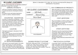 Interior Designer Description by Client Customer Profile Sheet