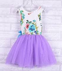 purple dress printed purple floral dress kids