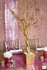 Wedding Table Decoration Ideas Trend Alert Rustic Glam Pink U0026 Gold Wedding Soiree Event Design